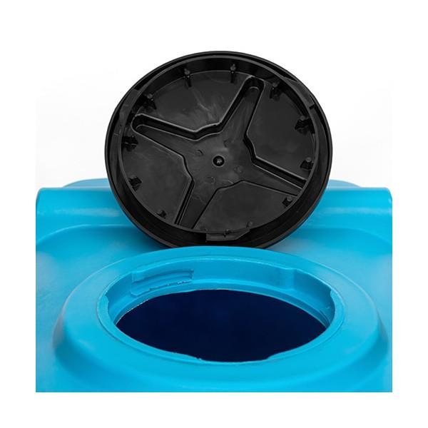 400 L horizontali, keturkampė, vienasienė talpa vandens saugojimui