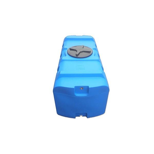 500 L horizontali, keturkampė, vienasienė talpa vandens saugojimui
