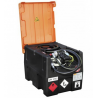 CEMO mobili bendzino talpa 190 L su elektriniu ATEX standartų siurbliu 12V, 25L/min
