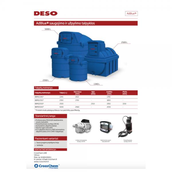 DESO AdBlue talpa 1340 L