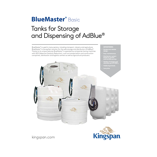 3500 L vienasienė AdBlue išpilstymo talpa Kingspan BlueMaster Basic